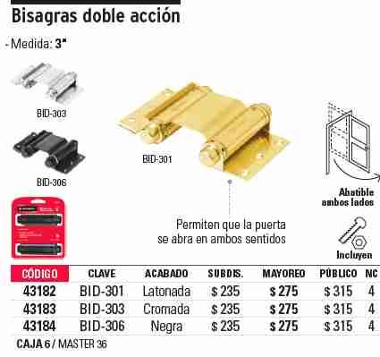 Ferredos listar productos - Bisagras de doble accion ...